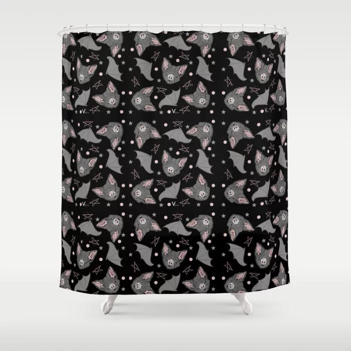 Bat Bat Love Shower Curtain By Vodum Society6 Em 2020