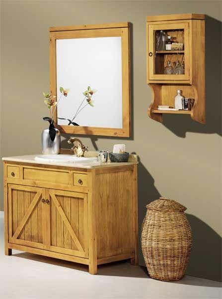 Mueble ba o 2 tama os merida lagar muebles rusticos for Muebles de bano de madera rusticos