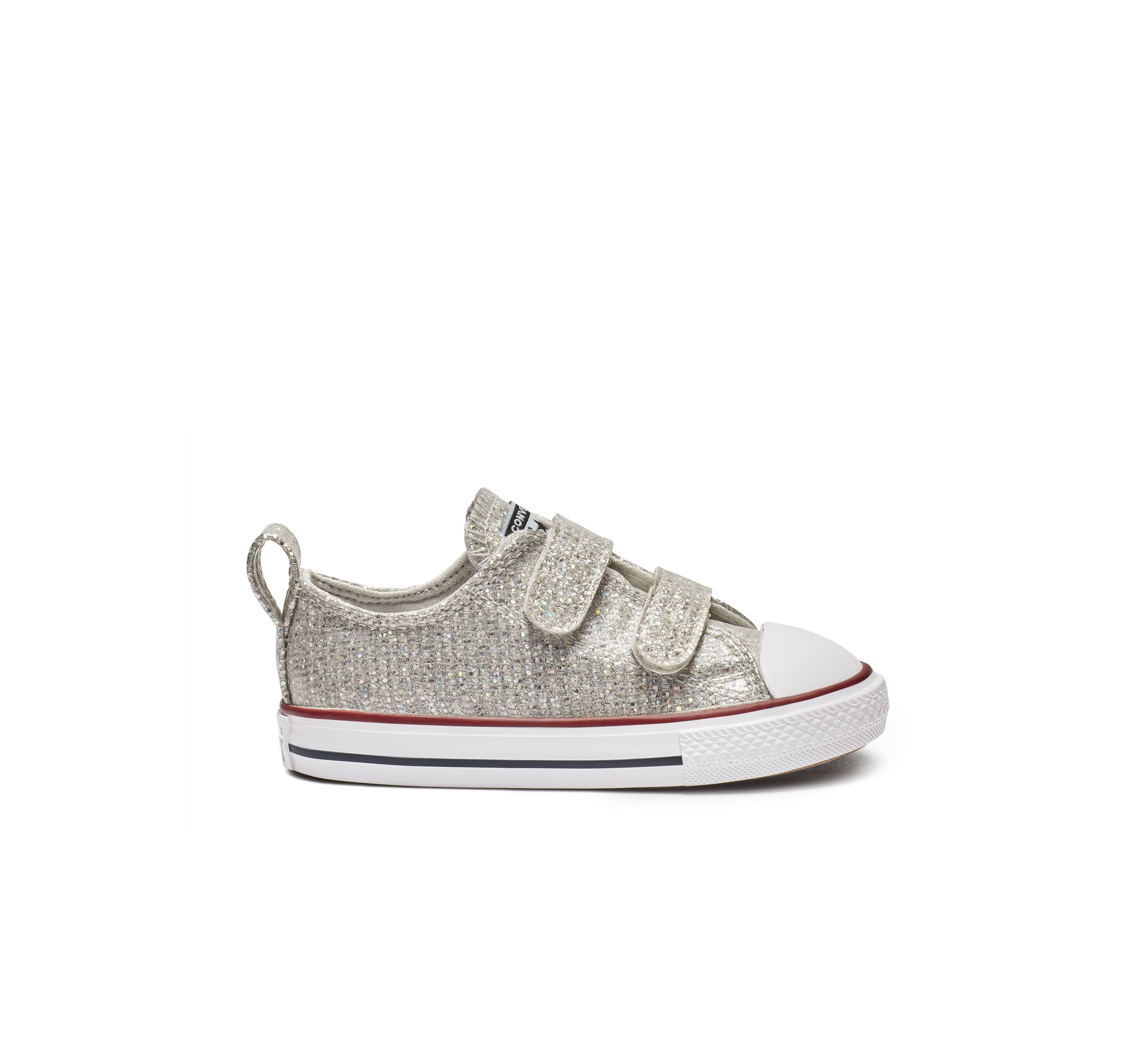 Chuck Taylor All Star Hook and Loop Sparkle Low Top   Chuck