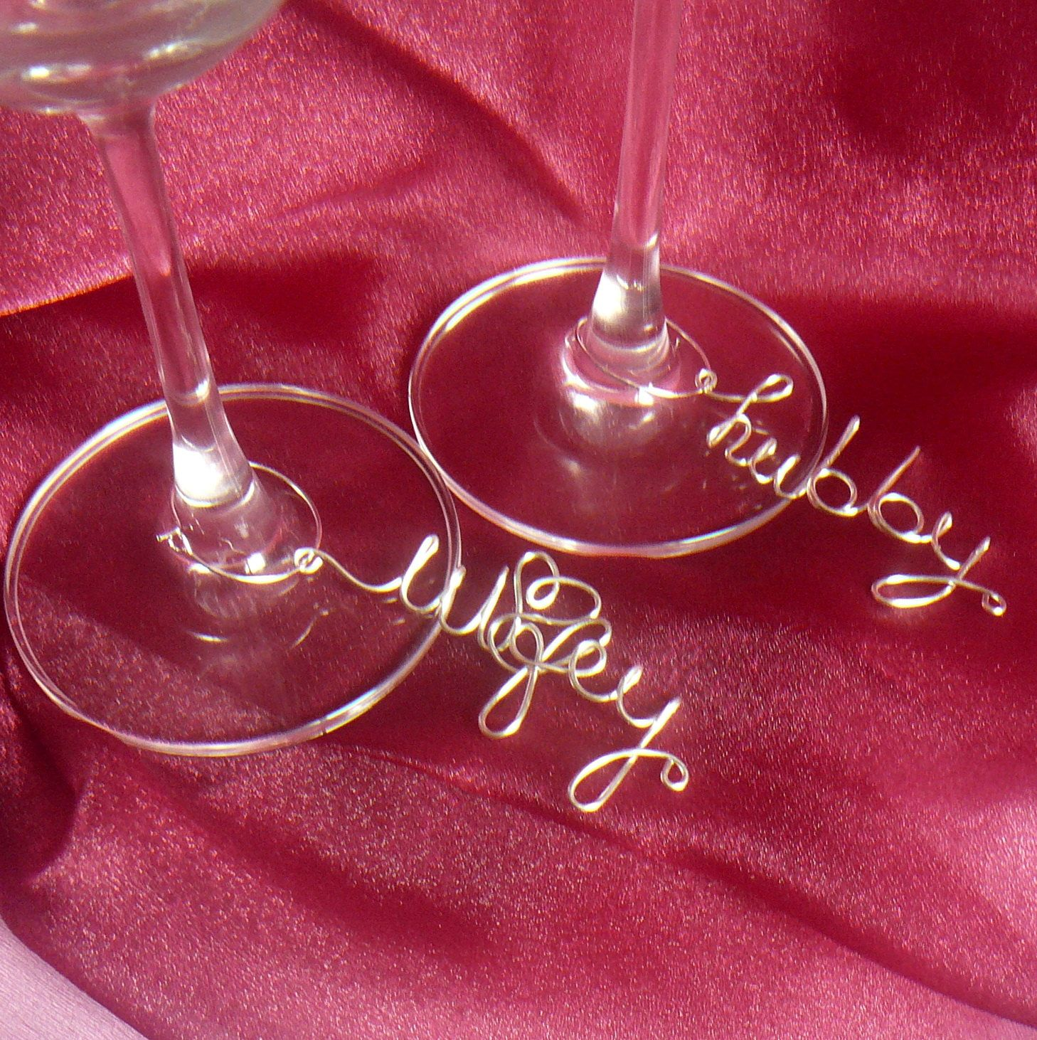 Wedding Decorations, Unique Wedding Decor, Hubby Wifey Wine Charms ...