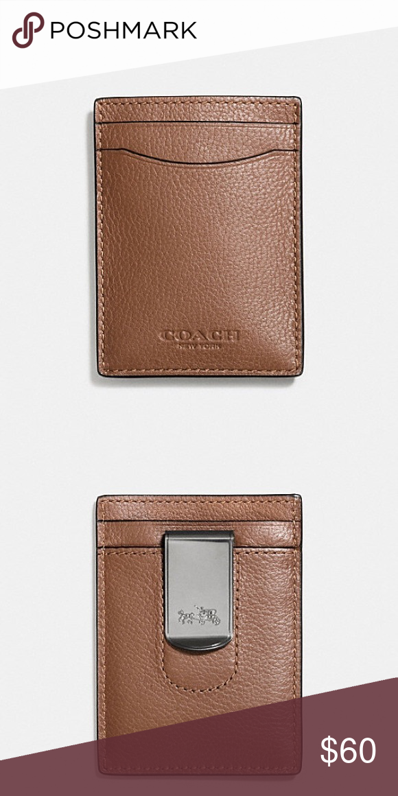 af9c760cd1256 Boxed 3-In-1 Card Case In Smooth Leather Smooth calf leather Credit card  pockets Money clip attached 3