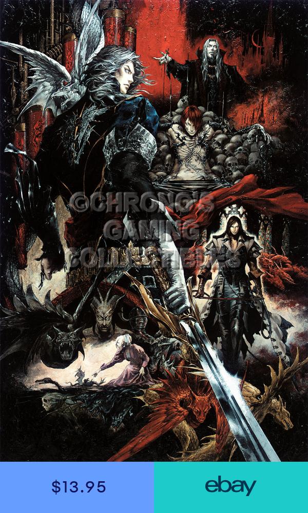 Rgc Huge Poster Castlevania Curse Of Darkness Art Ps2 Xbox Cas007 Fantasy Art Art Vampire Art