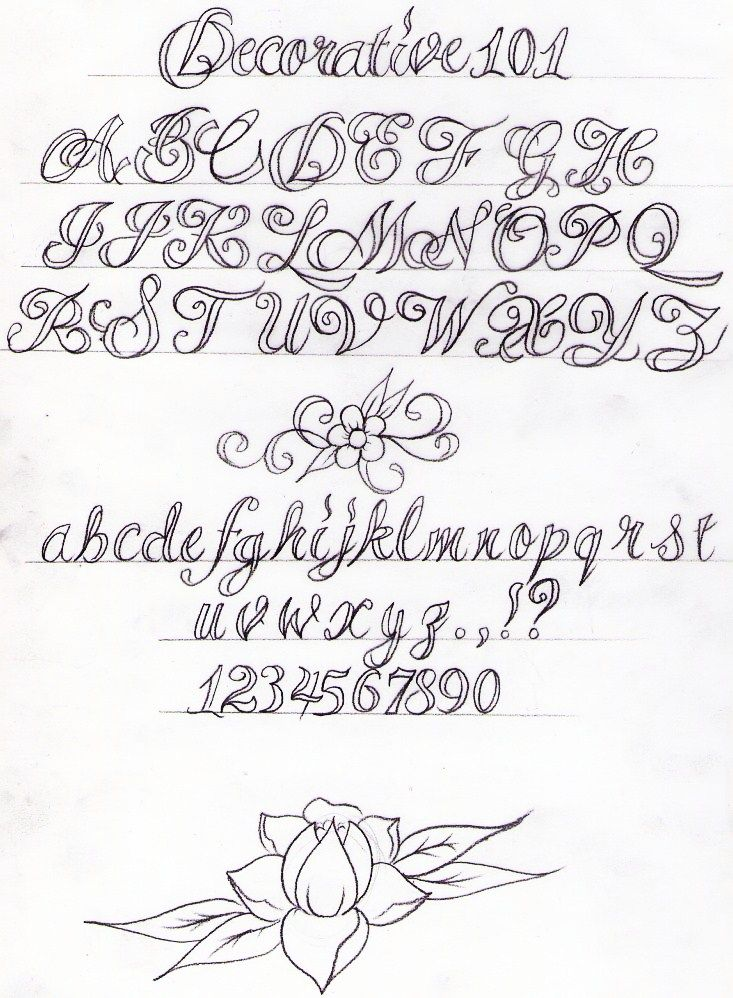 Decorative Writing Tutorial by Nevermore-Ink.deviantart