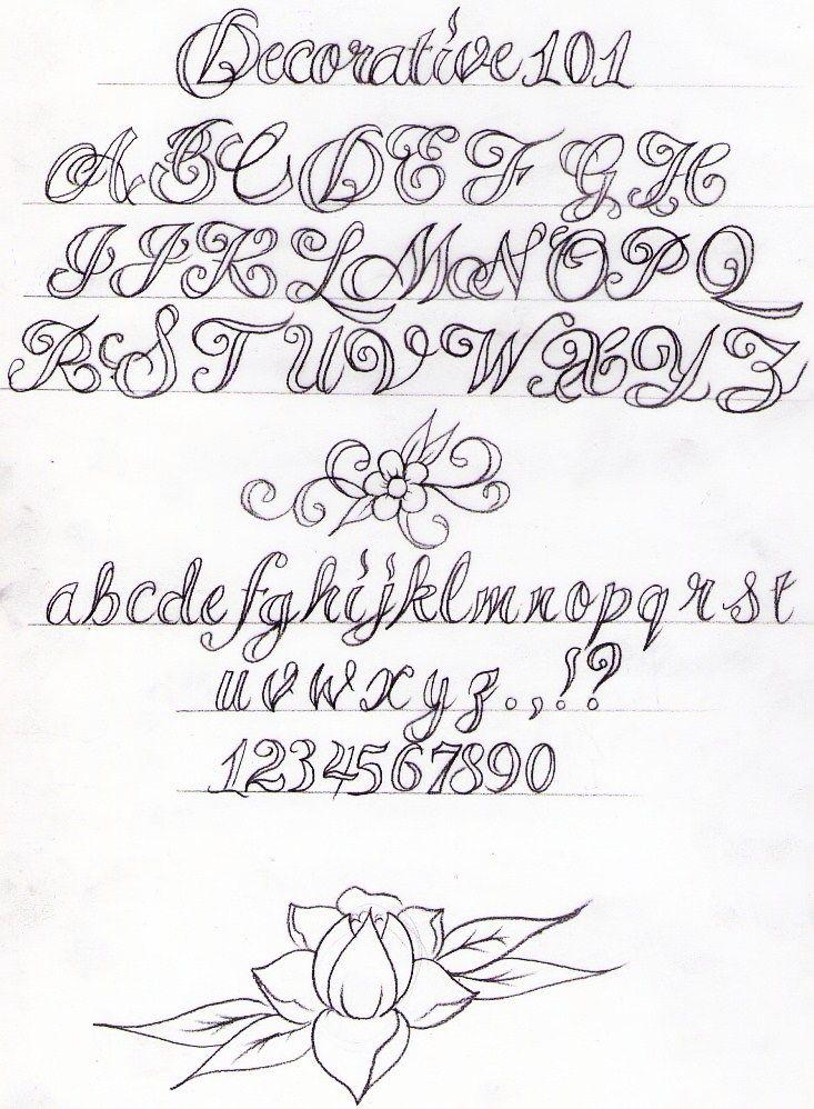 Decorative Writing Tutorial By Nevermore Inkdeviantart On DeviantART