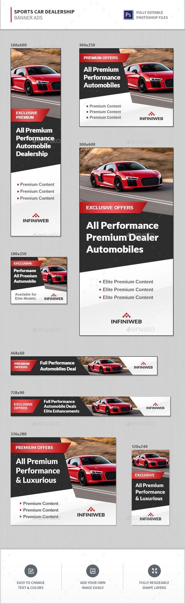 Sports Car Dealership Banners