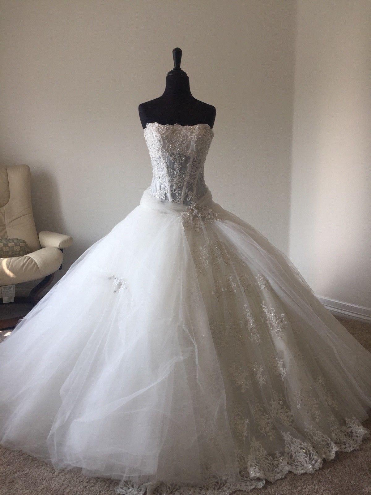 Pnina wedding dress  Pnina Tornai Wedding Dress Custom Tulle and Sworovski Crystal