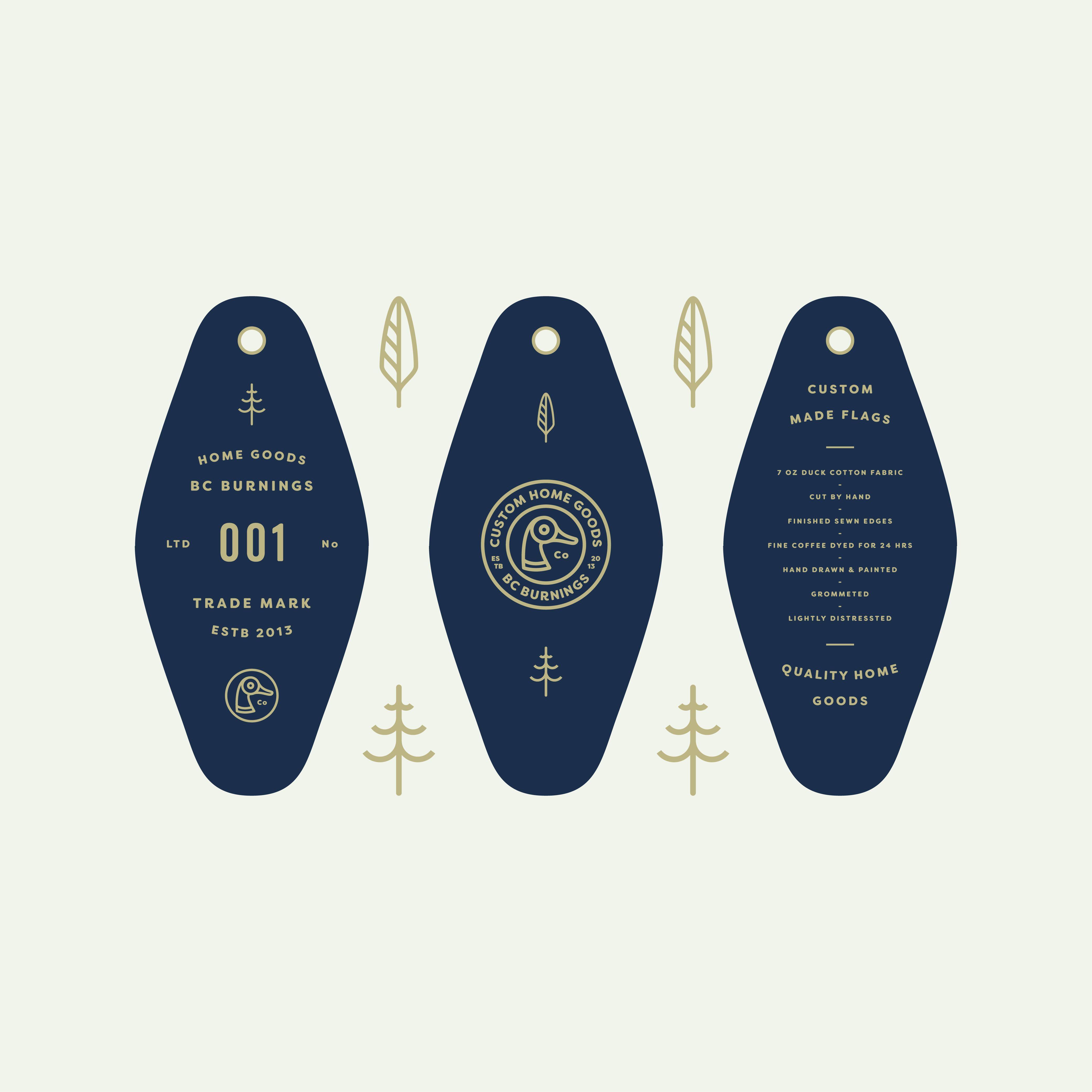 Bc Burnings Key Fob Hang Tag 1000px 02 Hang Tag Design Tag Design Graphic Design Logo