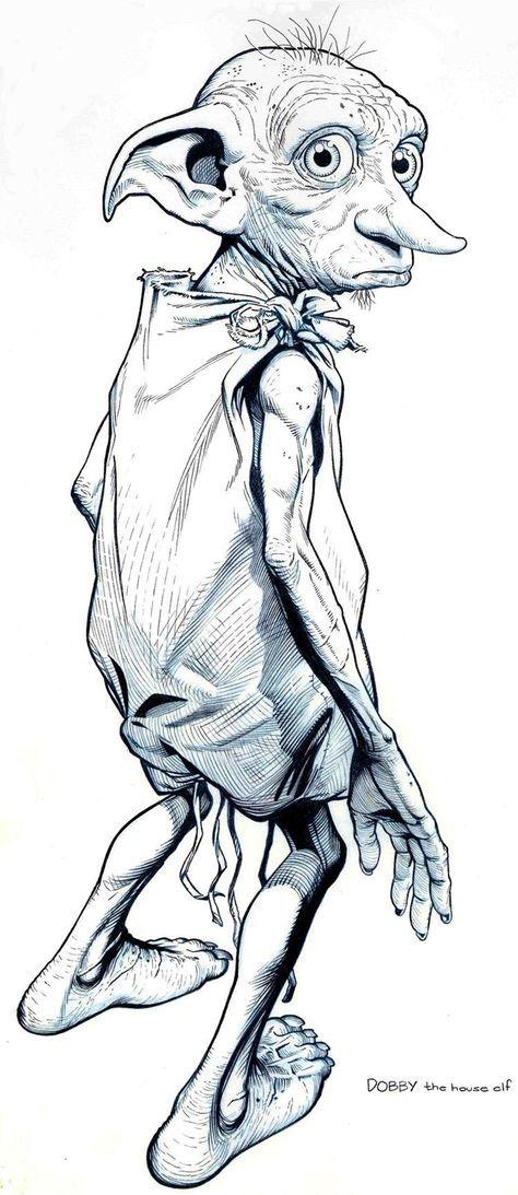 Lesezeichen Dobby Harry Potter Harry Potter Drawings Harry Potter Art