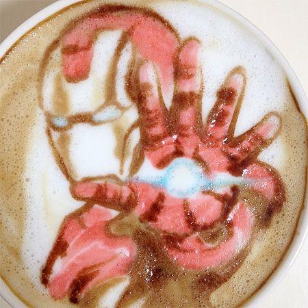 Iron man! Latte Art by Nowtoo Sugi