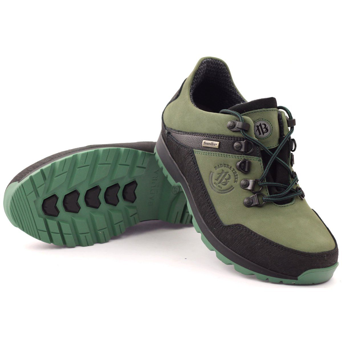 Trekkingi Z Membrana Sympatex Badura 3141 Czarne Zielone Trekking Shoes Green Heels Shoes Mens