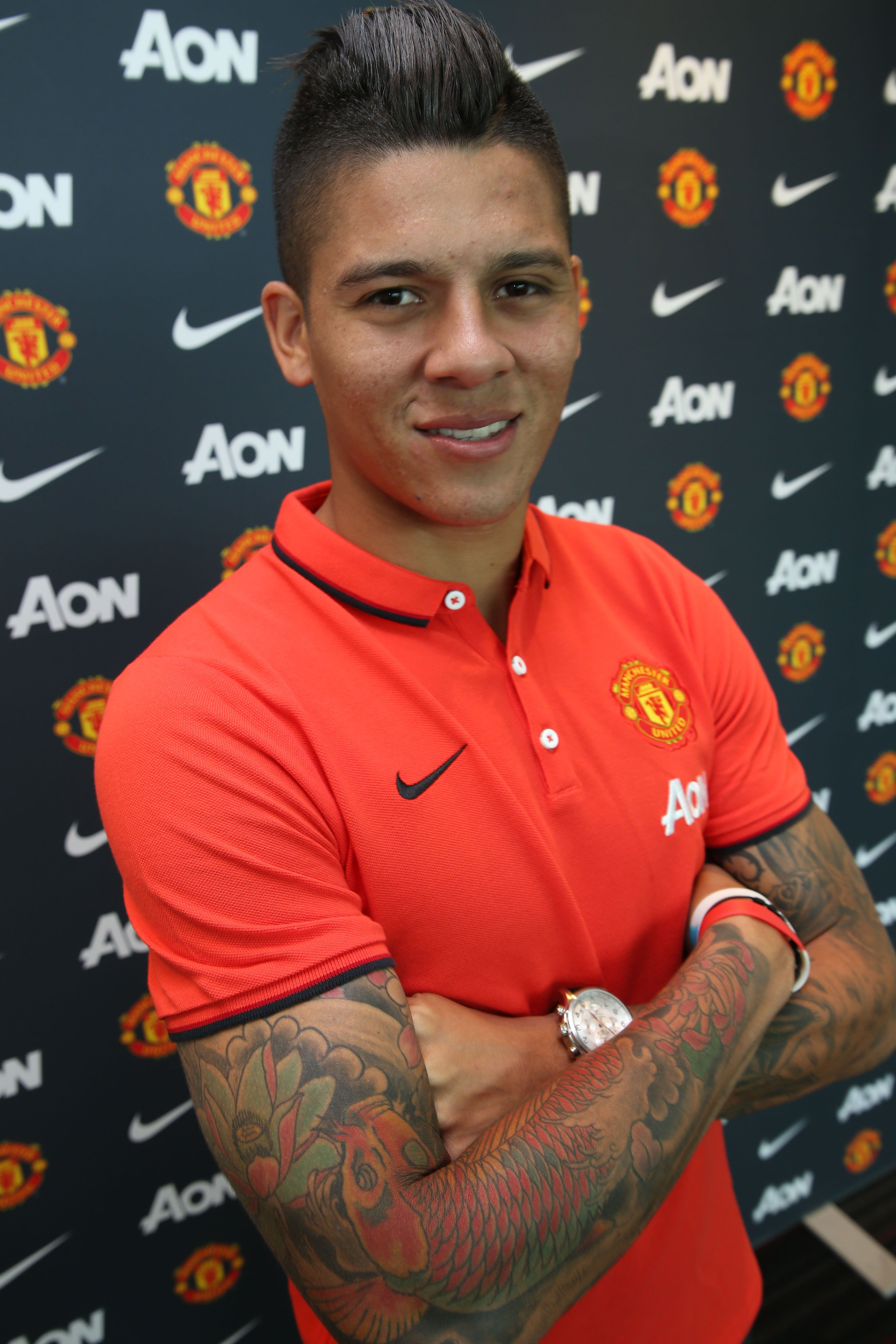 manutds marcos rojo shows off some of his tattoos quotmy