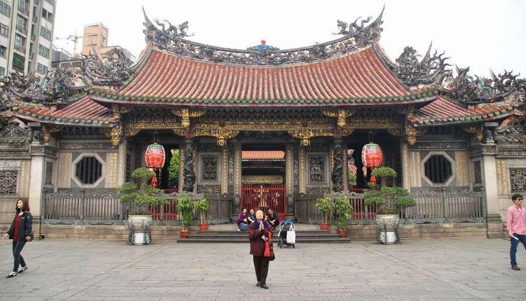 Templo de Longshan en Taipei, Taiwan