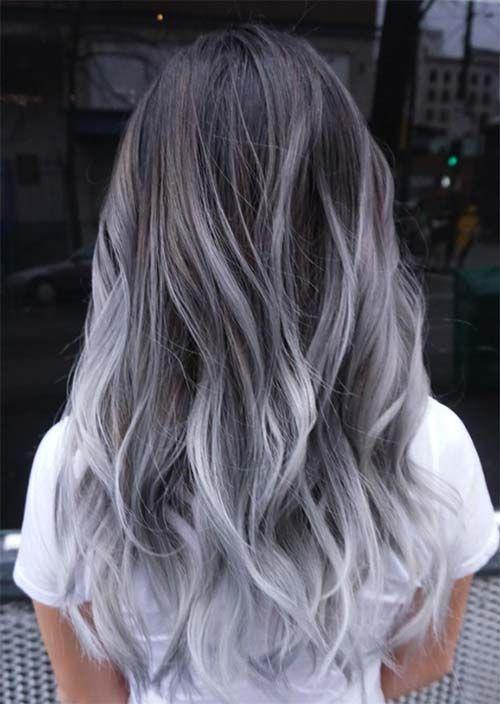 Trend zum Silberhaar: 51 coole graue Haarfarben und Tipps dafür – Haar Designs – NailiDeasTrends
