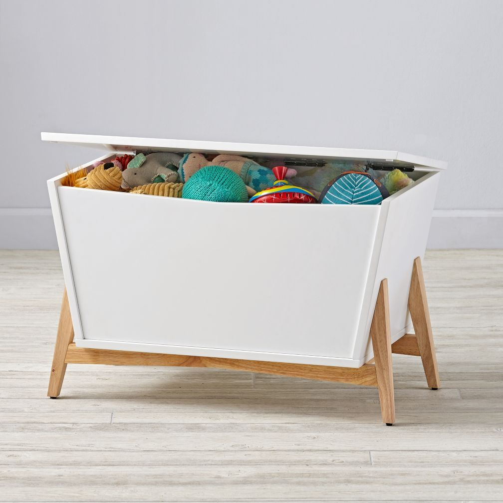Parkside Modern Toy Box Crate And Barrel Stylish Toy Storage