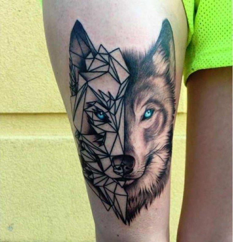 Tatuaje De Lobo Un Significado Encarnado En Nuestra Piel Nuevo Decoracion Tatuajes De Lobos Tatuajes Geometricos Mejores Tatuajes Para Hombres