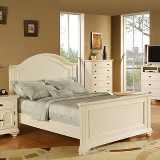 Best Picket House Furnishings Addison White Queen Panel Bed N 400 x 300