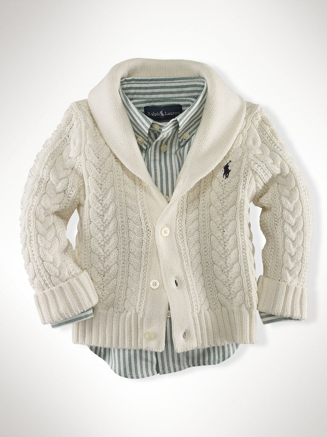 f5159e97cfad Adorable baby boy Ralph Lauren Polo Cardigan Shawl.