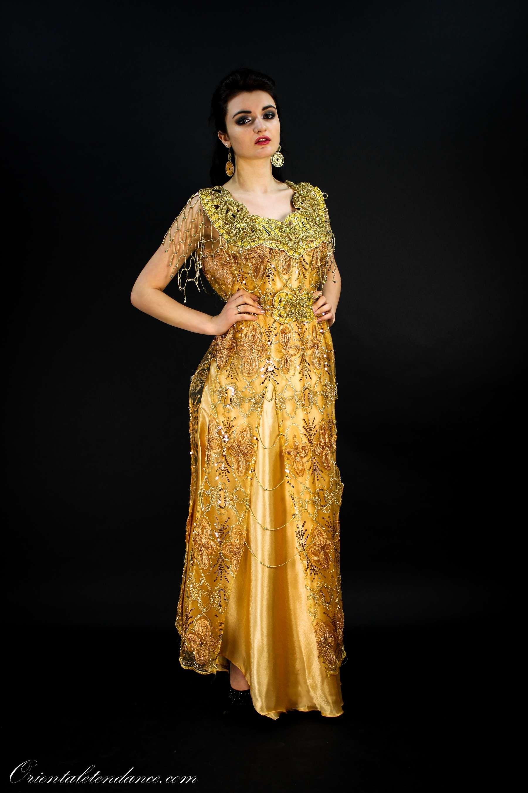 Chamsa algerian traditional Dress   Gandoura Shamssa-Algerian ...