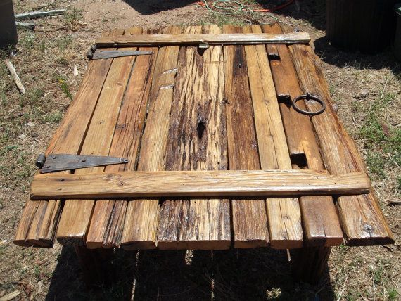 barn door re-claimed coffee table - on sale on etsy, $595.00 | log