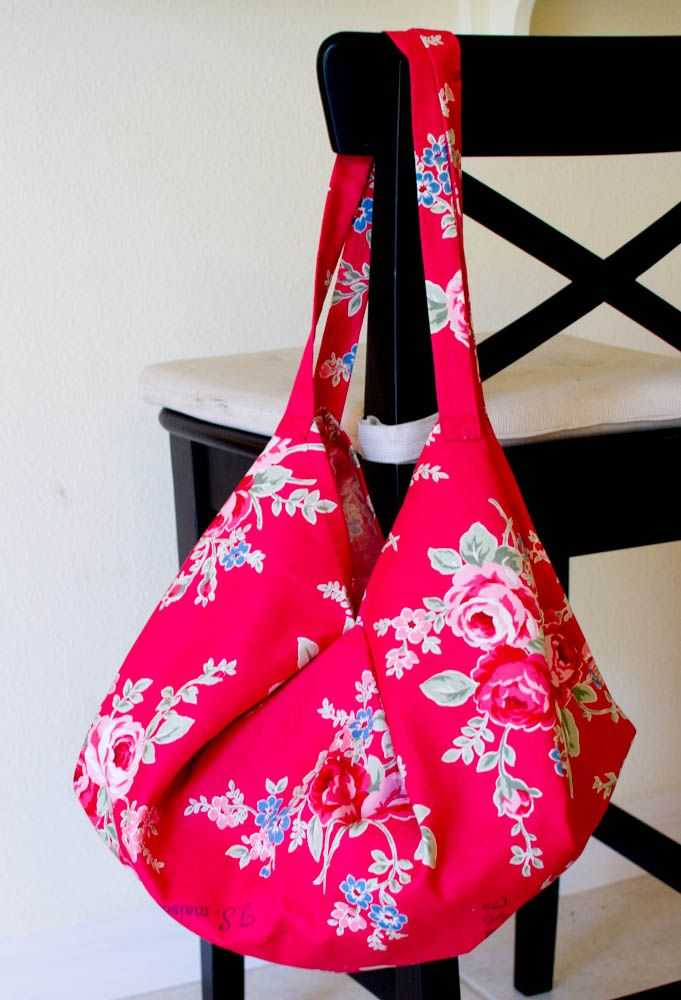 1 Yard Magic Hobo Bag Sewing Pattern from Lecien Fabrics! | Hobo ...