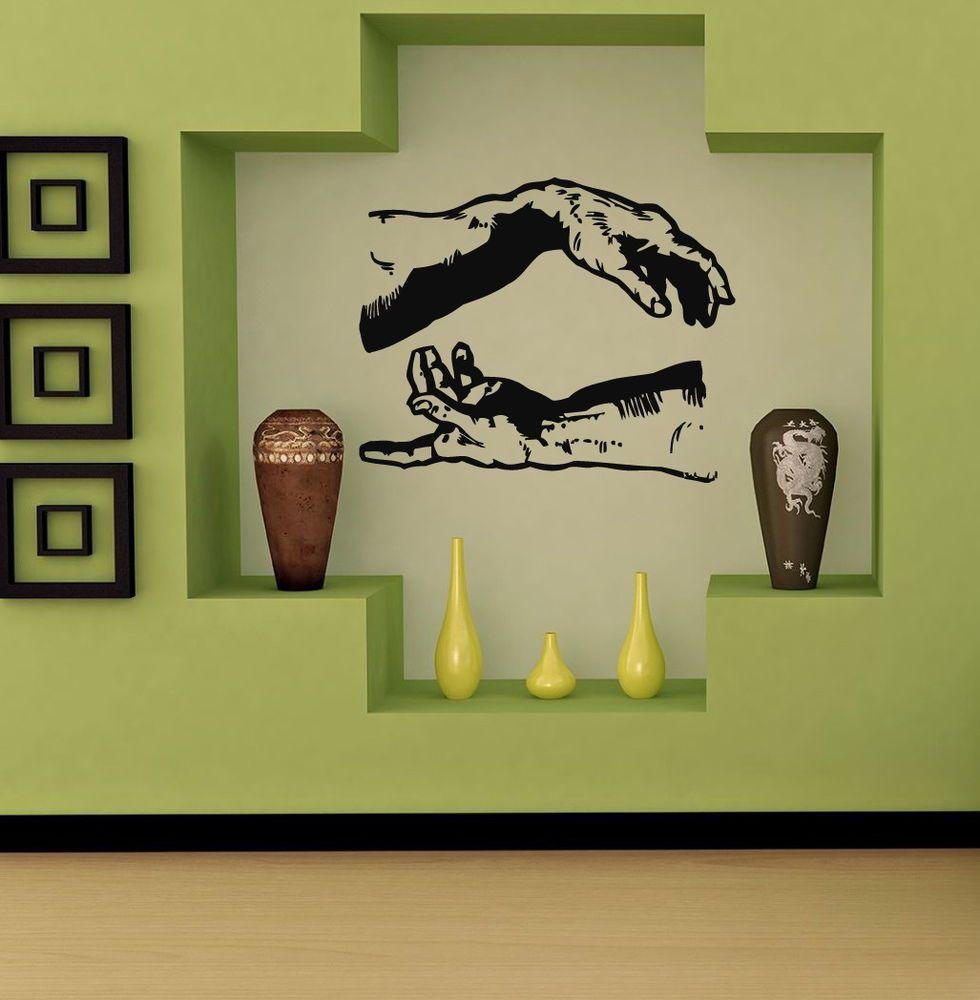 MIKELANGELO HANDS  CUTE WALL VINYL STICKER  DECALS ART MURAL T373 #MuralArtDecals