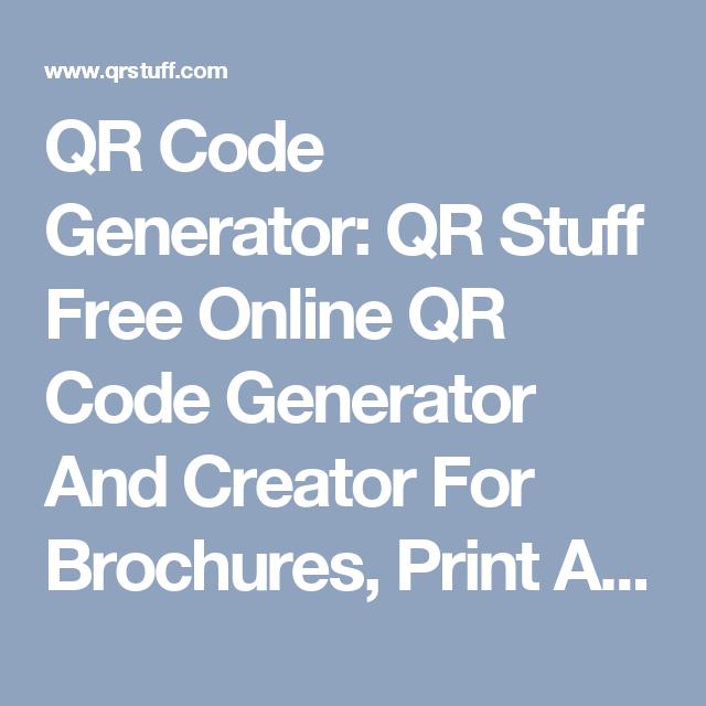 QR Code Generator: QR Stuff Free Online QR Code Generator And ...