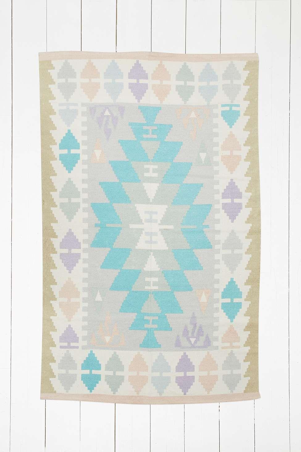 """Kelim-Teppich """"Isolde"""" in Blau mit Rautenmuster, 4 x 6 Fuß ..."""