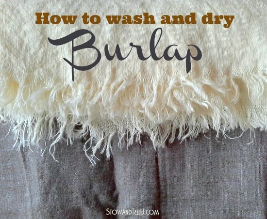 How To Wash And Dry Burlap And What To Expect Washing Burlap Burlap