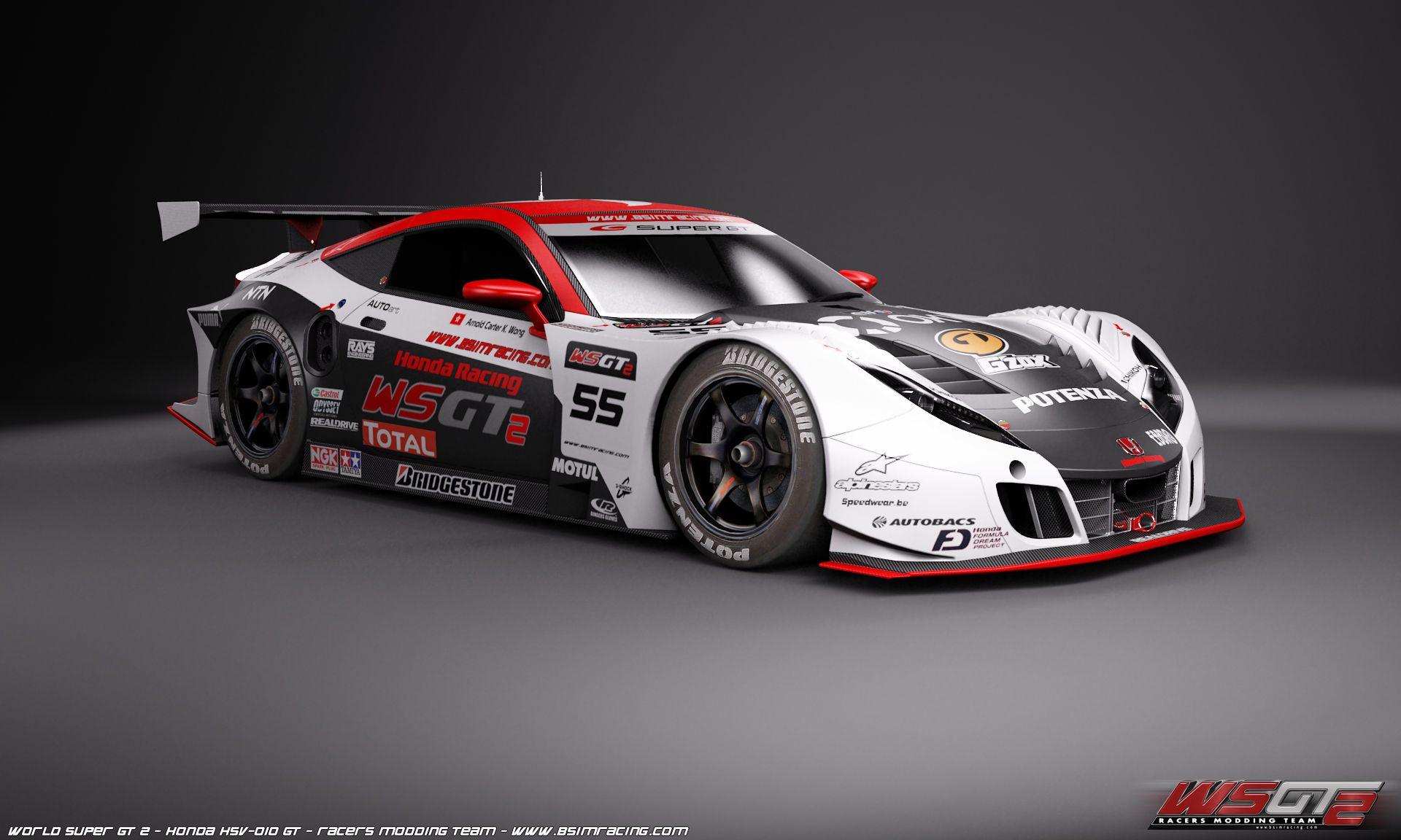 Honda Hsv Super Gt World Super Gt 2 First Honda Hsv 010 In Game