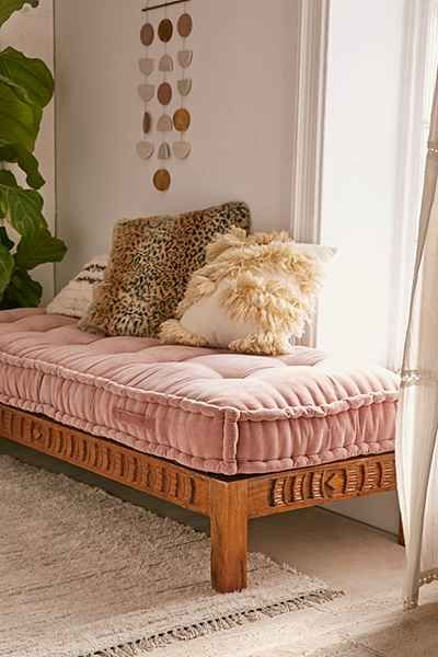 Rohini Velvet Daybed Cushion Daybed Cushion Wood Daybed Retro Home