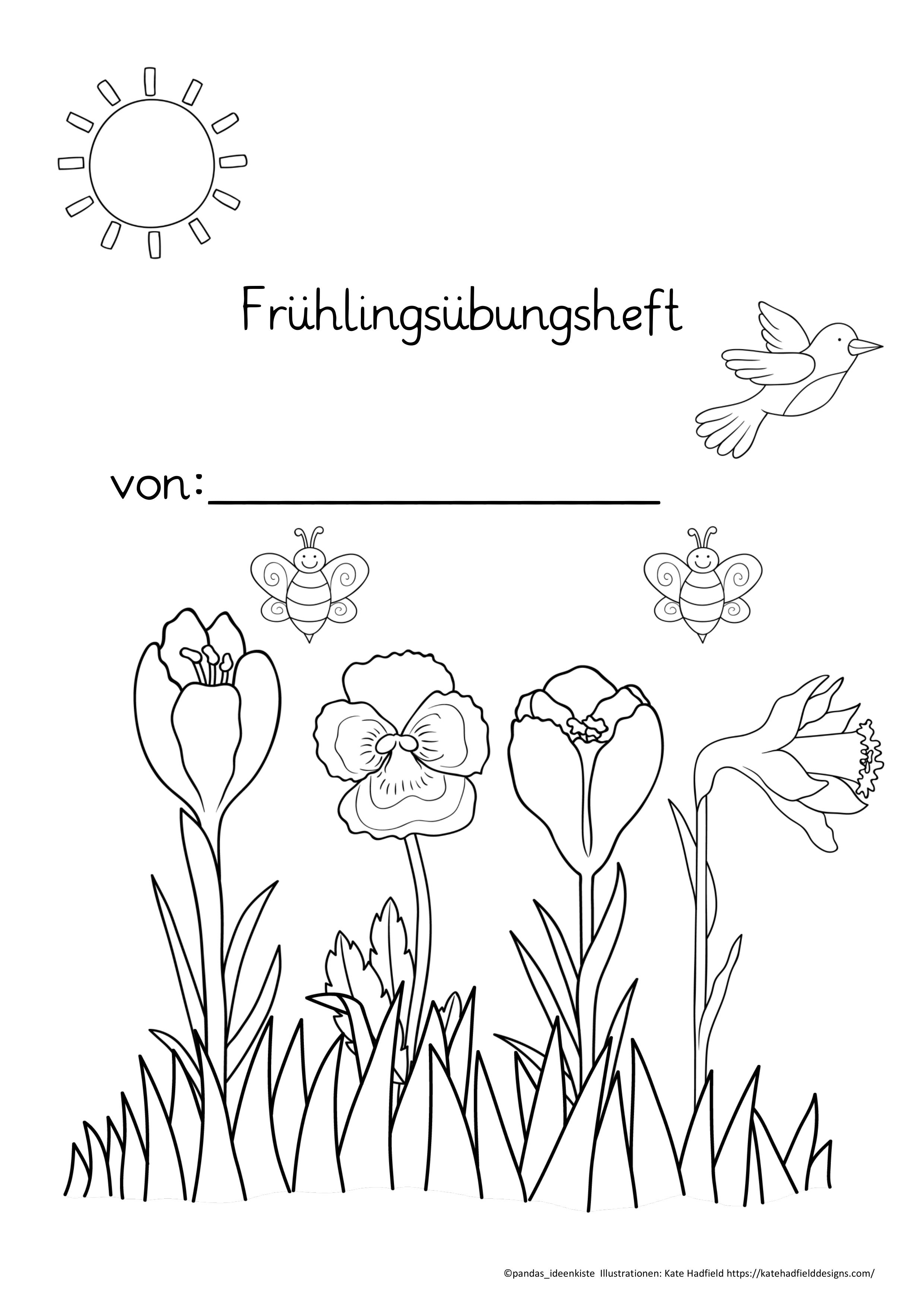 Fruhlingsubungsheft Klasse 1 Deutsch Und Mathe