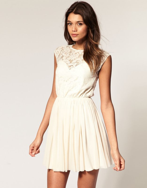 Asos 36 S Sukienka Koronka Letnia Luzna Uk8 2381247553 Oficjalne Archiwum Allegro Lace Dress Asos Skater Dresses Dresses