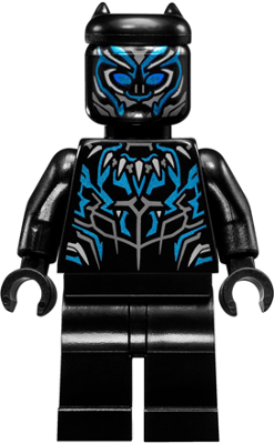Lego Marvel Black Panther Metallic Blue Highlights Sh478 Avengers
