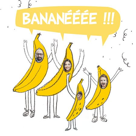 Carte de voeux Bananée - Popcarte