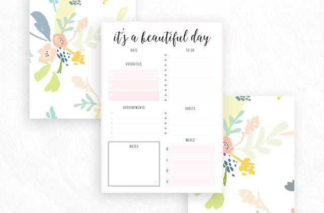 Free Printable Irma Daily Planners by Eliza Ellis - available in 6