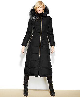 a7d6d3eef725f9 Calvin klein hooded faux fur trim down puffer maxi coat coats women macy  jpg 327x400 Shopstyle