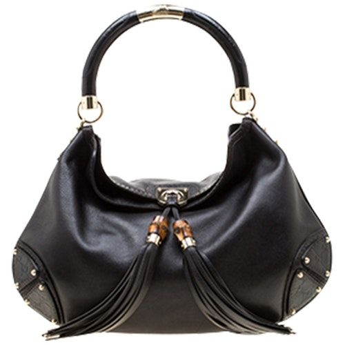 GUCCI HOBO BLACK LEATHER HANDBAG bags