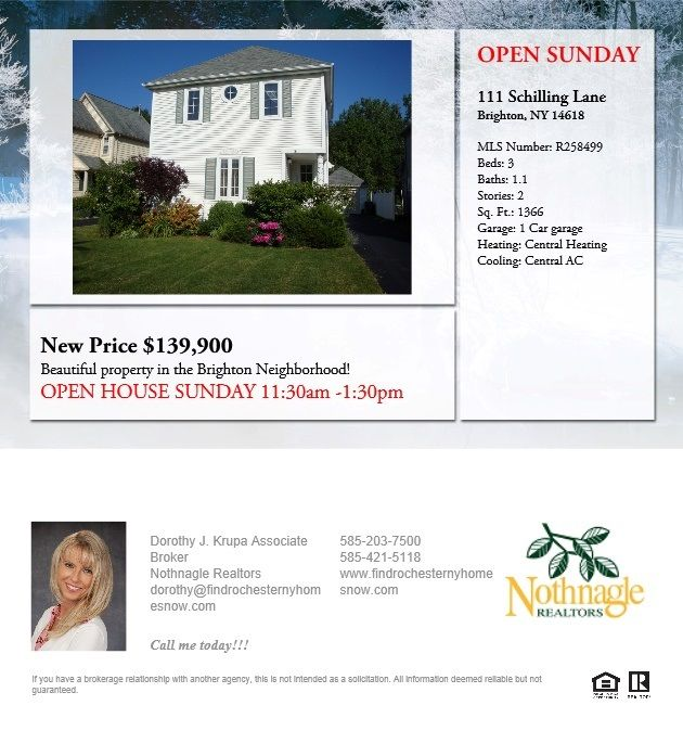 New Price Come Visit My Open House On Sunday Open House