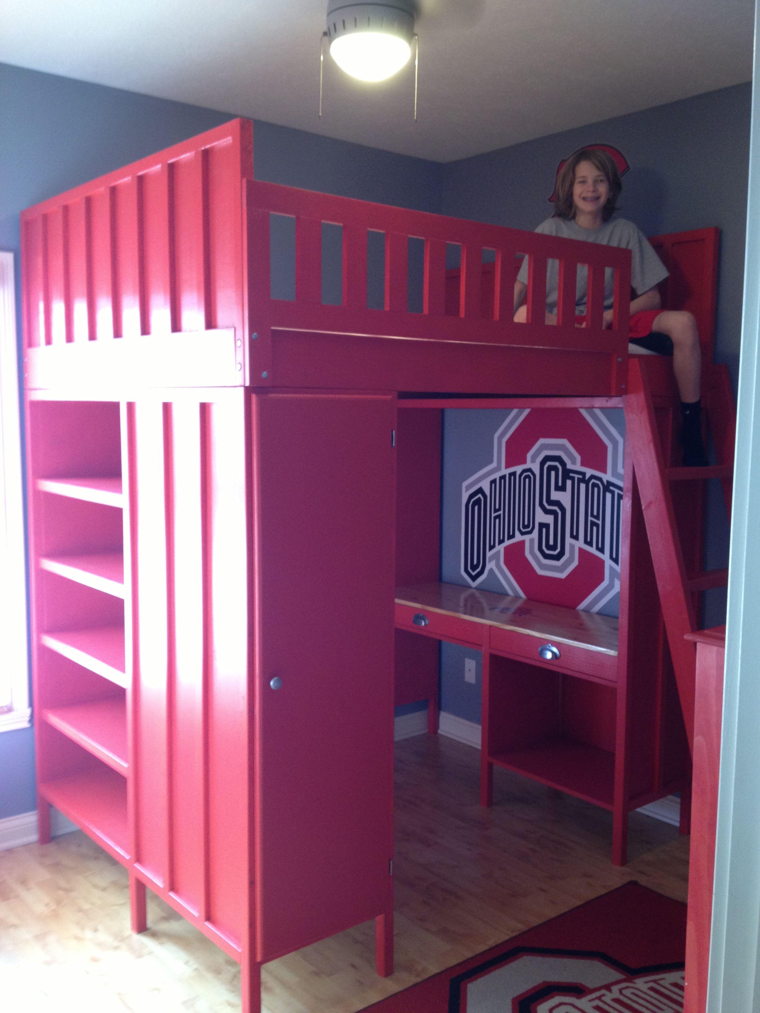 Diy kids loft bed plans  Ana White  Cabin Loft Bed OSU Design  DIY Projects  Domus