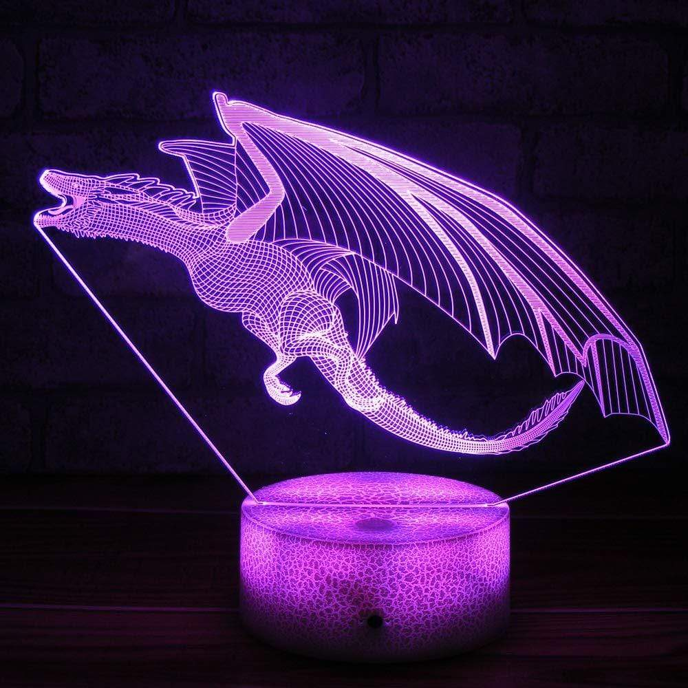 Mighty Dragon 3d Night Light Lamp In 2020 3d Night Light Night Light Lamp Night Light