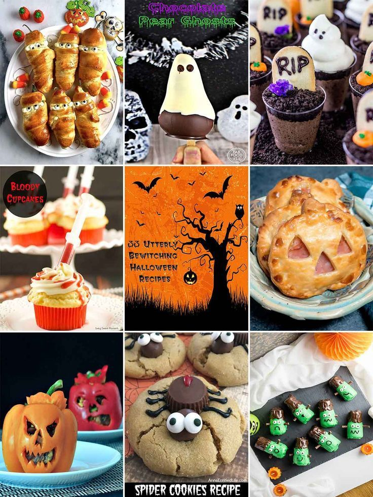 33 Utterly Bewitching Halloween Recipes Recipes, Halloween foods - halloween food ideas for kids party