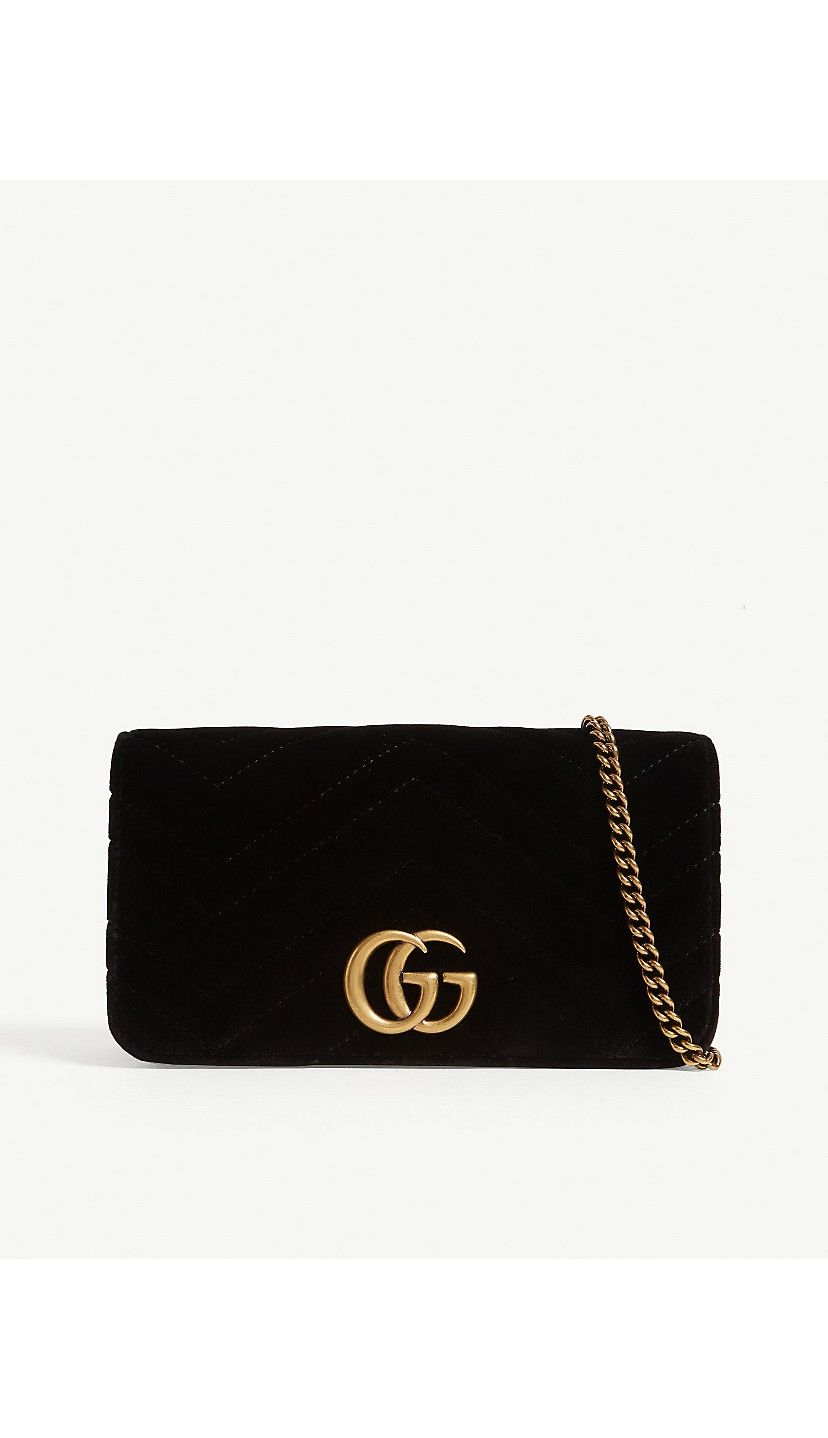 fdbf0642a80 GUCCI - Velvet Marmont clutch bag