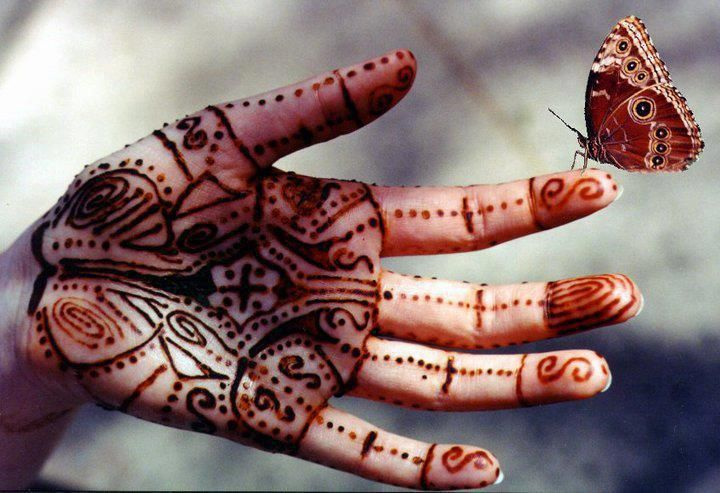 Mehndi Henna Butterfly : Henna hand and butterfly me pretty