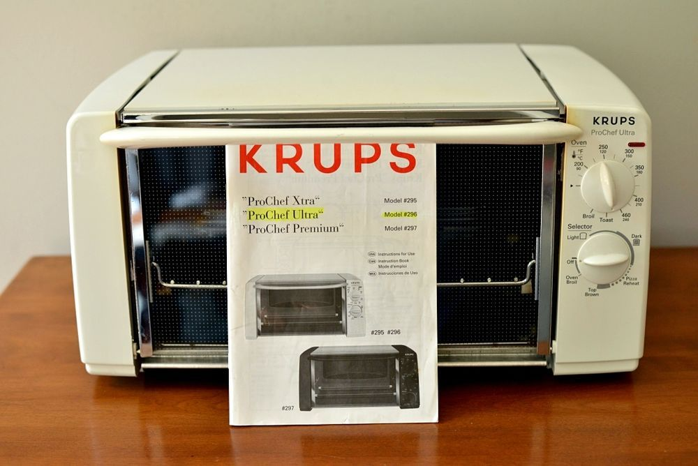 Krups Pro Chef Ultra Toaster Oven White Model 296 W Manual