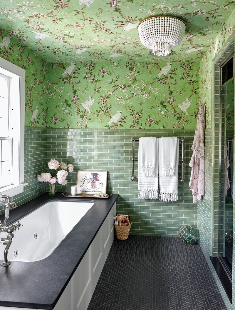 Bathroom Wall Tiles Design Images In 2020 Bathroom Wall Tile Design Green Bathroom Bathroom Tile Designs