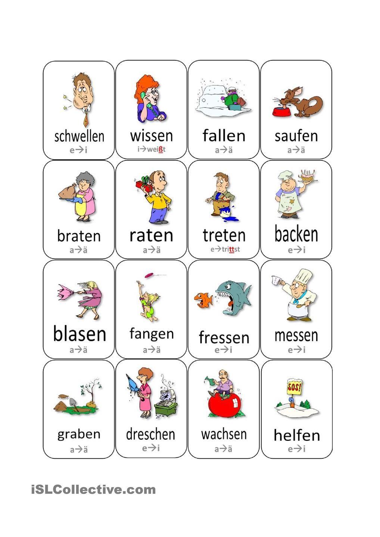 stammvokal nderung bei verben update teaching german stem change vbs german language. Black Bedroom Furniture Sets. Home Design Ideas