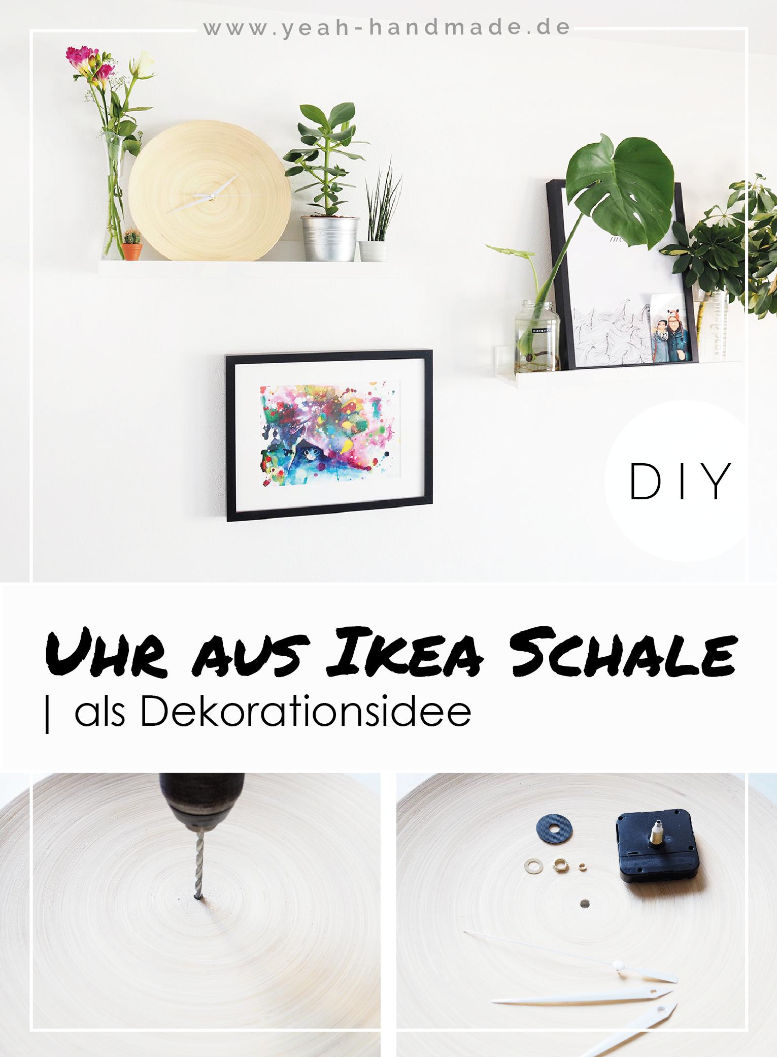 Diy Uhr Aus Der Ikea Bambus Schale Hultet Yeah Handmade Diy