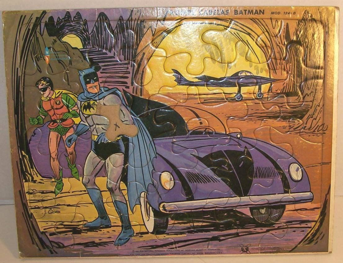 Batman Robin Funky Batmobile Bat Plane Frame Tray Puzzle Incomplete | eBay