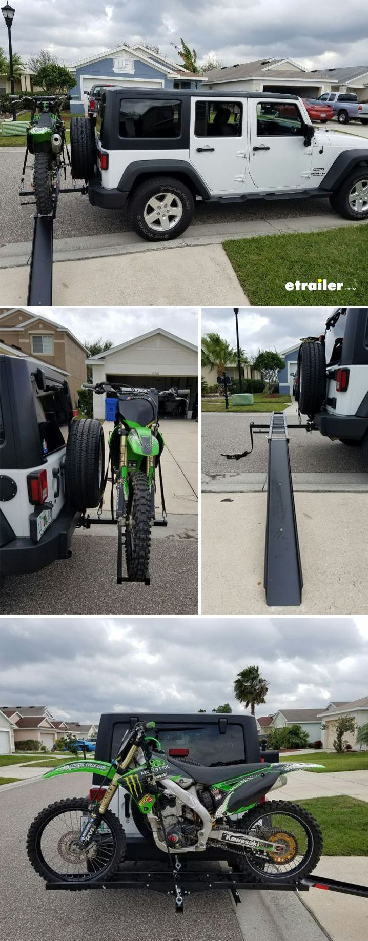 You May Be A Jeeper But You Are Also A Rider Carry Your Dirt Bike With This Heavy Duty Steel Constructed Hitch Mount Motorcycle Trailer Dirt Bike Dirt Bikes