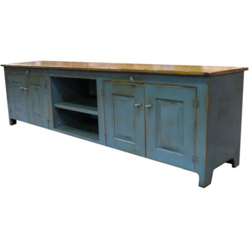 90 Inch TV Console Handcrafted Painted TV Stand